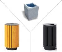 Šiukšlių dėžės, konteineriai