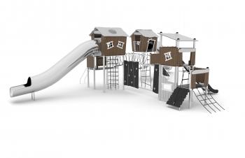 Vaikų žaidimų aikštelės. Nerūdijančio plieno 0302
