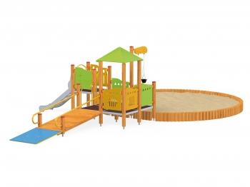 Vaikų žaidimų aikštelės. vaikams su negalia
