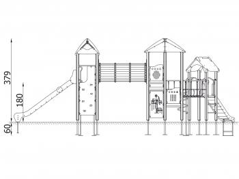 """Vaikų žaidimų aikštelės. """"Pilies bokštas 14"""""""