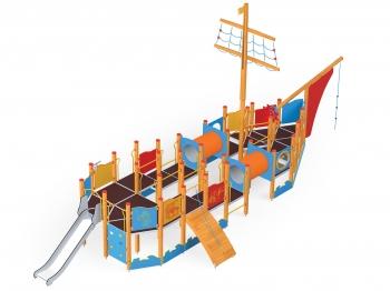 """Vaikų žaidimų aikštelė """"Laivas"""""""