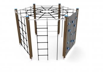 Vaikų žaidimų aikštelės. laipiojimo kompleksas wd1420