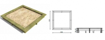 Smėlio dėžė 3x3