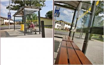 """Viešojo transporto, autobusų stotelės, """"Kvarcas"""""""