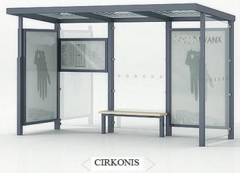 """Viešojo transporto, autobusų stotelės, """"Cirkonis"""""""