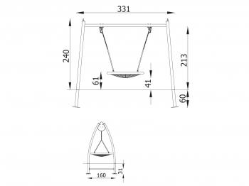 Metalinės supynės lopšys qq11