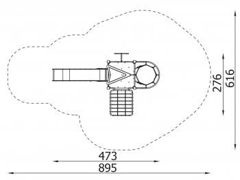 Metalinė žaidimų aikštelė J8018