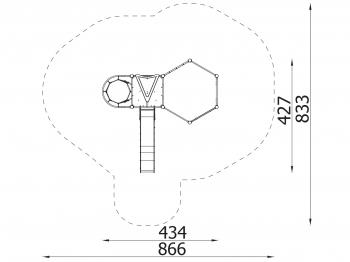 Metalinė žaidimų aikštelė J8029