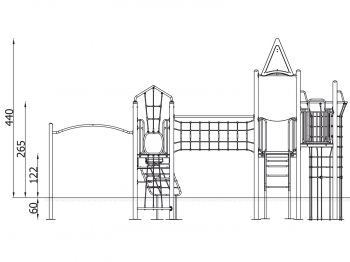 Metalinė žaidimų aikštelė J8035