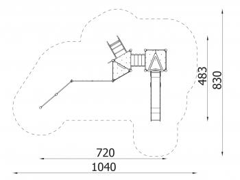 Metalinė žaidimų aikštelė J8041