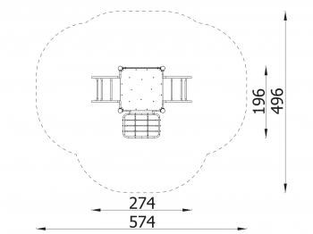 Metalinė žaidimų aikštelė J8056