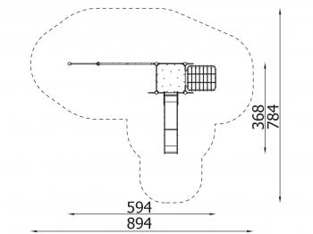 Metalinė žaidimų aikštelė J8081
