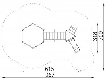 Metalinė žaidimų aikštelė J8109