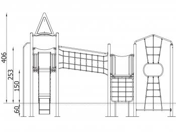Metalinė žaidimų aikštelė J8111