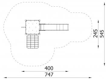 Metalinė žaidimų aikštelė J8118