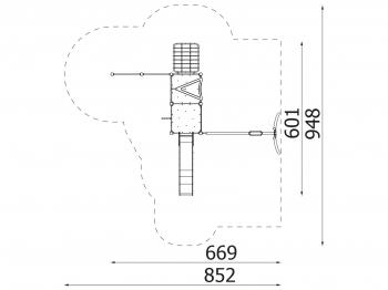Metalinė žaidimų aikštelė J8119
