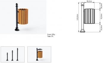 Šiukšlių dėžė su pelenine JMT0201