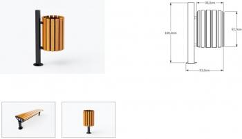 Šiukšlių dėžė su pelenine JMT0202