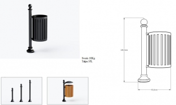 Šiukšlių dėžė su pelenine JMT0206