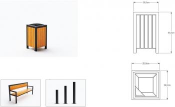 Šiukšlių dėžė su pelenine JMT0213