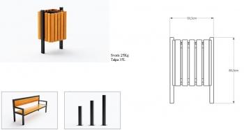 Šiukšlių dėžė su pelenine JMT0214