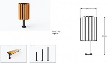 Šiukšlių dėžė su pelenine JMT0220