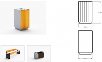 Šiukšlių dėžė su pelenine ir užraktu JMT0232
