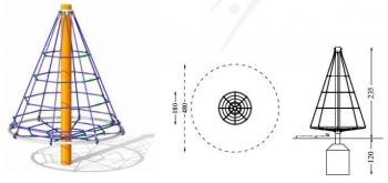 Laipiojimo tinklas eglė