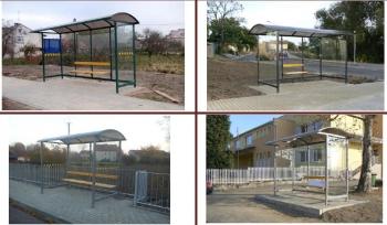 """Viešojo transporto, autobusų stotelės, """"Topazas"""""""