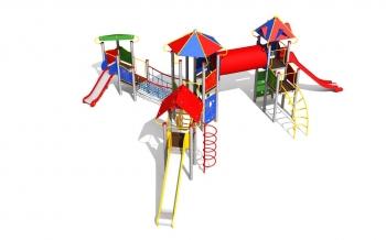 """Vaikų žaidimų aikštelė """"Pilies bokštas 15MP"""""""