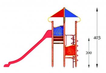 """Vaikų žaidimų aikštelė """"Pilies bokštas 07MP"""""""