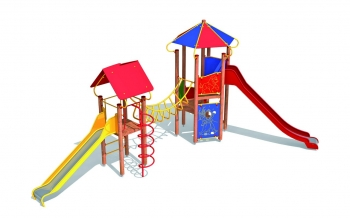 """Vaikų žaidimų aikštelės. """"Pilies bokštas 10"""""""