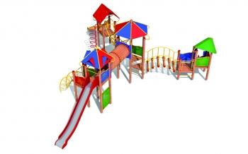 """Vaikų žaidimų aikštelės. """"Pilies bokštas 15"""""""