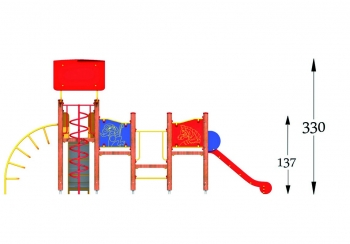 """Vaikų žaidimų aikštelė """"Bokštas12MP"""""""