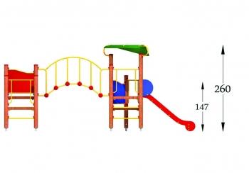 """Vaikų žaidimų aikštelė """"Bokštas13MP"""""""