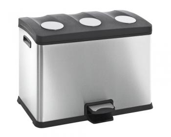 Rūšiavimo šiukšlių dėžė. 3x12L. Metalinė. Kodas 7155