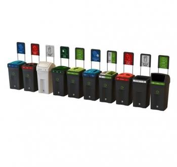 Rūšiavimo šiukšlių dėžės. Plastikinės 100L