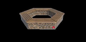 Akmeninis suoliukas apvalus - gabionas