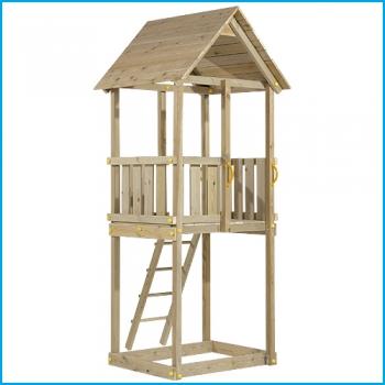 Vaikų žaidimų aikštelės. Cabana bokštas su supynėmis