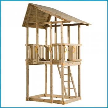 Vaikų žaidimų aikštelės. Hangar  bokštas su supynėmis