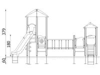 """Vaikų žaidimų aikštelės. """"Pilies bokštas 09"""""""