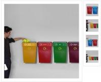Rūšiavimo šiukšlių dėžės. Plastikinės 30-50L