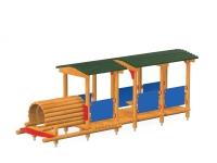 Traukinukas su vagonu
