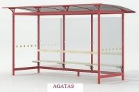 """Viešojo transporto, autobusų stotelės, """"Agatas"""""""