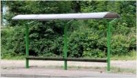 """Viešojo transporto, autobusų stotelės, """"Garnetas"""""""