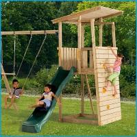 Vaikų žaidimų aikštelės. Bunker bokštas su supynėmis