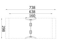 Metalinės supynės ant grandinių qq010
