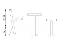 Pikniko stalas metalinis