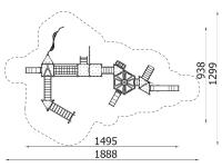 Metalinė žaidimų aikštelė J8026
