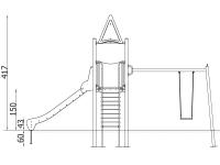 Metalinė žaidimų aikštelė J8037